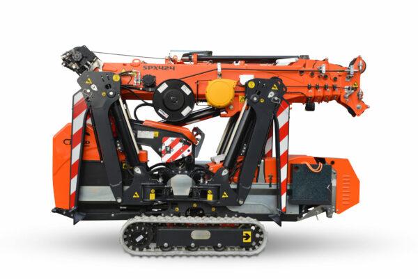 Jekko SPX424 minihijskraan transportpositie